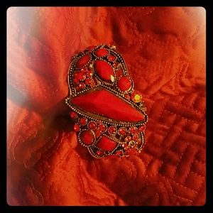 Accessories - Red hinge cuff bracelet